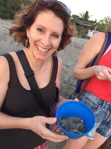 Donna and her baby sea turtles