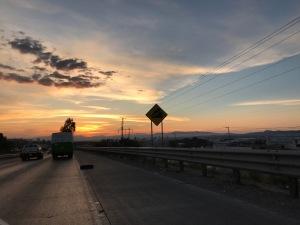 June sunset Querétaro