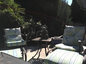 recovered patio furniture.