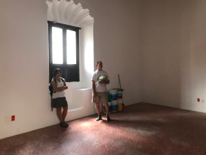 Saadia and Lyn in our soon-to-be new home.