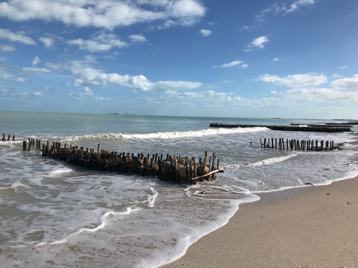 The beach in Chelem